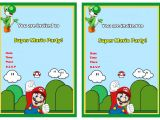 Super Mario Bros Birthday Party Invitation Templates Super Mario Birthday Invitations Birthday Printable