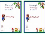 Super Mario Bros Birthday Party Invitation Templates Super Mario Birthday Invitations Super Mario Birthday
