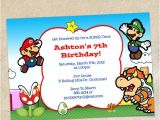 Super Mario Bros Birthday Party Invitation Templates Super Mario Brothers Invitation Template Instant Download