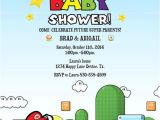 Super Mario Brothers Baby Shower Invitations Mario Birthday Baby Shower Boy Invitation Invite Printable