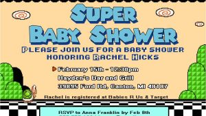 Super Mario Brothers Baby Shower Invitations Super Mario Baby Shower Invite How to