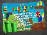 Super Mario Brothers Baby Shower Invitations Super Mario Baby Shower Invite