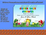 Super Mario Brothers Baby Shower Invitations Super Mario Bros Baby Shower Invitation 6×4 In by
