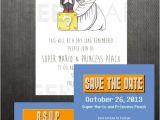 Super Mario Wedding Invitations Printable Super Mario Bros Wedding Invitation Save by