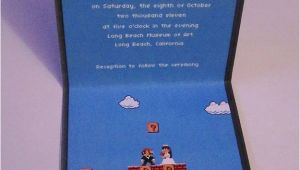 Super Mario Wedding Invitations Retro Super Mario 8 Bit Wedding Invitations Bit Rebels