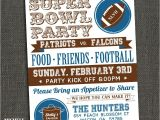 Superbowl Party Invitations Michele Purner Designs