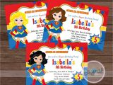 Supergirl Birthday Party Invitations Superhero Super Girl Party Invitation Super Girl Invitation