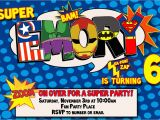 Superhero Birthday Invitations Templates Free Superhero Birthday Invitations