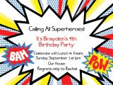 Superhero Birthday Invitations Templates Free Superhero Invitation Templates