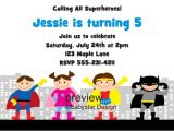 Superhero Birthday Invitations Templates Free Superhero Invitations Template