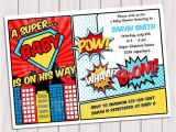 Superhero themed Baby Shower Invitations Superhero Baby Shower Invitation Printable Invite Card