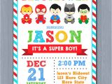 Superhero themed Baby Shower Invitations Superhero Baby Shower Invitation Super Hero Baby Shower