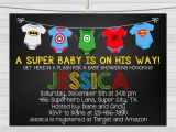 Superhero themed Baby Shower Invitations Superhero Baby Shower Invitation Superhero by
