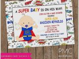 Superman Baby Shower Invitation Template Baby Shower Invitation Inspirational Superman Baby Shower