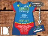 Superman Baby Shower Invitation Template Superhero Baby Shower Invitation Esie Invitation