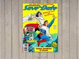 Superman Wedding Invitations Comic Book Wedding Invitation Superman Save the Date Digital