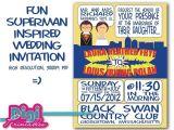 Superman Wedding Invitations Items Similar to Wedding Invitation Superman Super Hero