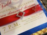 Superman Wedding Invitations Red White and Blue Musical Wedding Invitation themed for