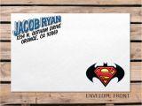 Superman Wedding Invitations Superman Batman Invitation Envelope
