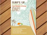Surf Birthday Party Invitations Printable Vintage Beach Surf themed Birthday Party Invitation