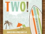 Surf Birthday Party Invitations Surf and Beach Birthday Invitation Printable by