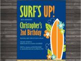 Surf Birthday Party Invitations Surf Birthday Invitation Printable Surf Birthday Party