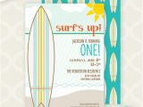 Surf S Up Birthday Party Invitations Items Similar to Printable Invitation Surf S Up First