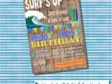 Surf S Up Birthday Party Invitations Surf S Up Birthday Party Invitation Pool Party Invite