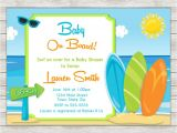 Surfer Baby Shower Invitations Surf Baby Shower Invitation Surfing Surfer Boy Invite
