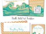 Surfer Baby Shower Invitations Surfer Baby Shower Baby On Board Surfer Baby Shower