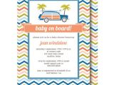Surfer Baby Shower Invitations Surfer Baby Shower Invitation Baby On Board