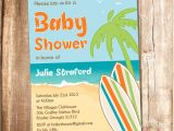 Surfer Baby Shower Invitations Surfer Baby Shower Invitation Printable Beach Baby Shower