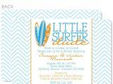 Surfer Girl Baby Shower Invitations Little Surfer Dude Baby Shower Invitation – Pipsy