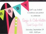 Surfer Girl Baby Shower Invitations Playing with Paper Scrapbooks Cards & Diy Surfer Girl