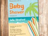 Surfer Girl Baby Shower Invitations Surfer Baby Shower Invitation Printable Beach Baby Shower
