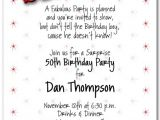 Surprise 30th Birthday Invitation Wording 8 Best Images Of Surprise 50th Birthday Invitations