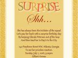 Surprise 30th Birthday Invitation Wording Surprise Birthday Party Invitation Wording Wordings and