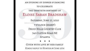 Surprise 30th Birthday Invitations Classic 30th Birthday Red Surprise Invitations