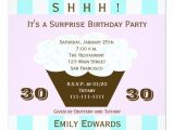Surprise 30th Birthday Invitations Cupcake 30th Surprise Birthday Party Invitation