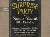 Surprise 30th Birthday Invitations Surprise Party Invitations Printable Chalkboard Surprise