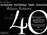 Surprise 40th Birthday Party Invitations Templates Free 40th Surprise Birthday Party Invitations Bagvania Free