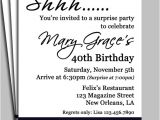 Surprise 40th Birthday Party Invitations Templates Free Black Damask Surprise Party Invitation Printable or Printed