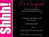 Surprise 40th Birthday Party Invitations Templates Free Surprise Party Invitation Wording Template Best Template