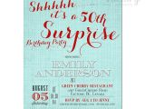 Surprise 50 Birthday Party Invitations Free Printable Surprise 50th Birthday Invitation