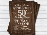 Surprise 50 Birthday Party Invitations Surprise 50th Birthday Invitation Adult Man Any Age