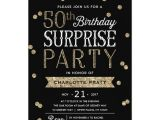 Surprise 50th Anniversary Party Invitations 50th Glitter Confetti Surprise Party Invitation Zazzle Com