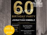 Surprise 60 Birthday Party Invitations 20 Ideas 60th Birthday Party Invitations Card Templates