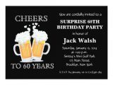 Surprise 60 Birthday Party Invitations Cheers Surprise 60th Birthday Party Invitations Zazzle