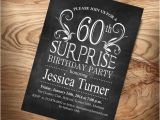Surprise 60 Birthday Party Invitations Items Similar to 60th Surprise Birthday Invitation Diy