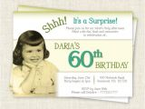 Surprise 60 Birthday Party Invitations Surprise 60th Birthday Invitation Digital Printable File